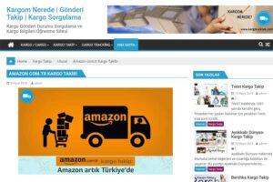 Amazon .com.tr Kargo Takibi