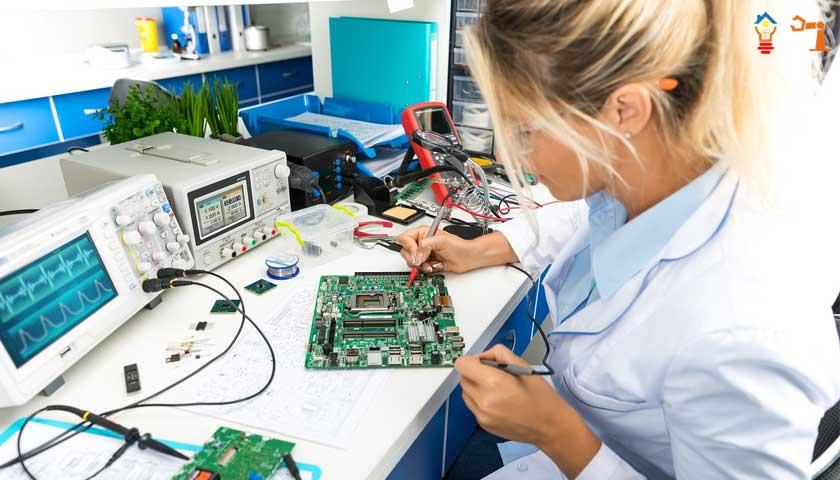 electronics woman